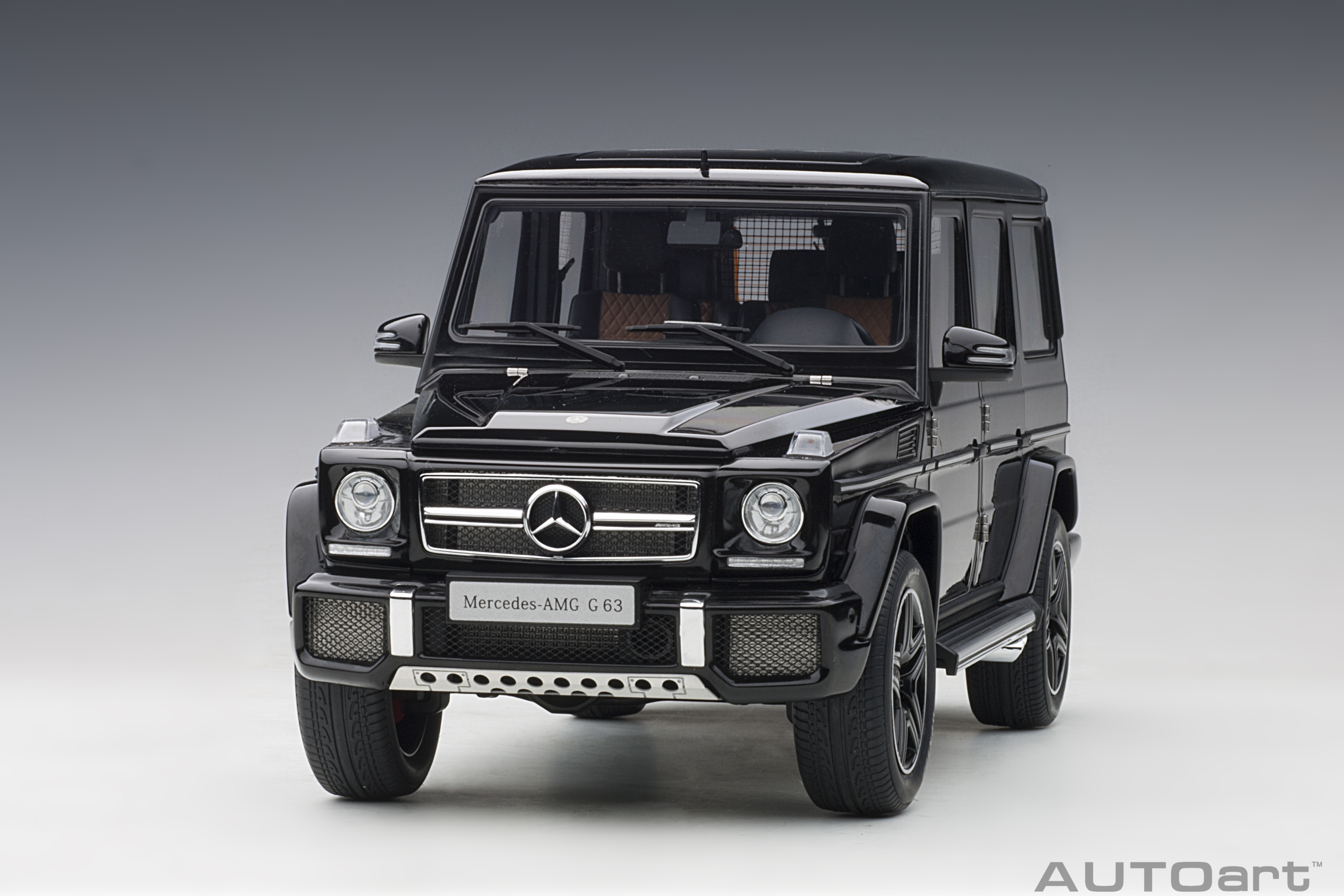 autoart 76322 modellauto mercedes benz g63 amg black 1 18. Black Bedroom Furniture Sets. Home Design Ideas