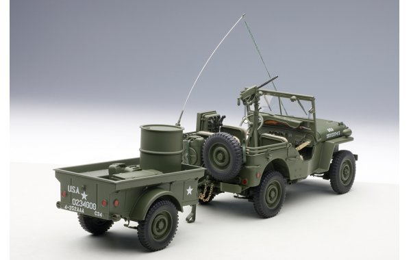 Bild 3 - Jeep Willis Army Version mit Anhänger