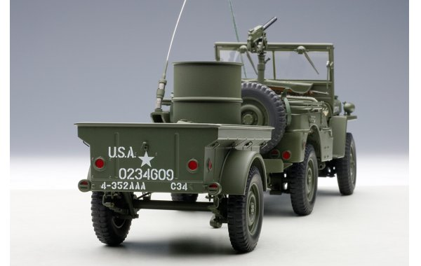 Bild 4 - Jeep Willis Army Version mit Anhänger