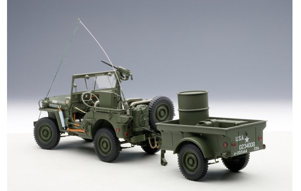 Bild 5 - Jeep Willis Army Version mit Anhänger