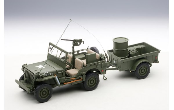 Bild 6 - Jeep Willis Army Version mit Anhänger