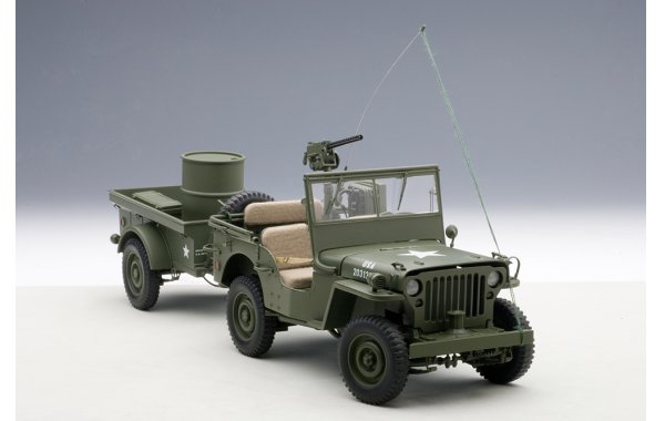 Bild 10 - Jeep Willis Army Version mit Anhänger