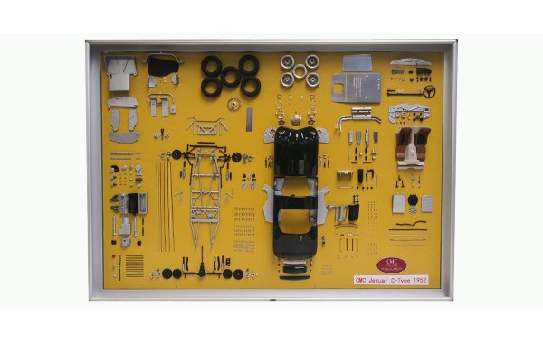 Bild 1 - CMC Jaguar C-Type Bauteile-Display-board