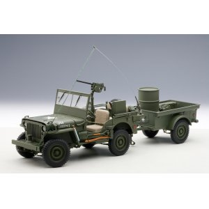 Jeep Willis Army Version mit Anhänger