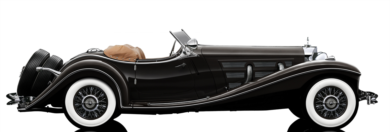 1:12 Bauer Exclusive Modellauto Mercedes 500K Roadster